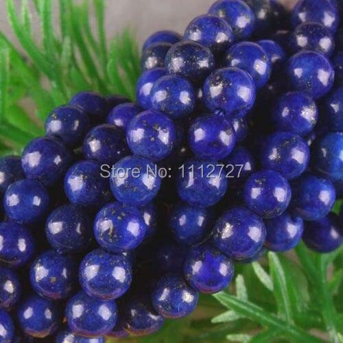 """Wholesale 4mm 14mm Blue Egyptian Lazuli Lapis Gemstone Round Loose Beads 15/"""""""
