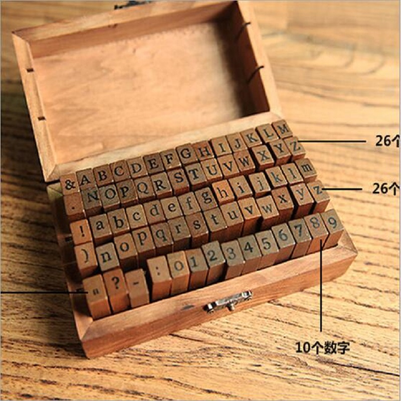 WSP719 70pcs/pack Numbers alphabet Korean Style Retro Zakka Wooden Rubber Stamp for DIY Scrapbook DIY Photo Album Cards e cap aluminum 16v 22 2200uf electrolytic capacitors pack for diy project white 9 x 10 pcs