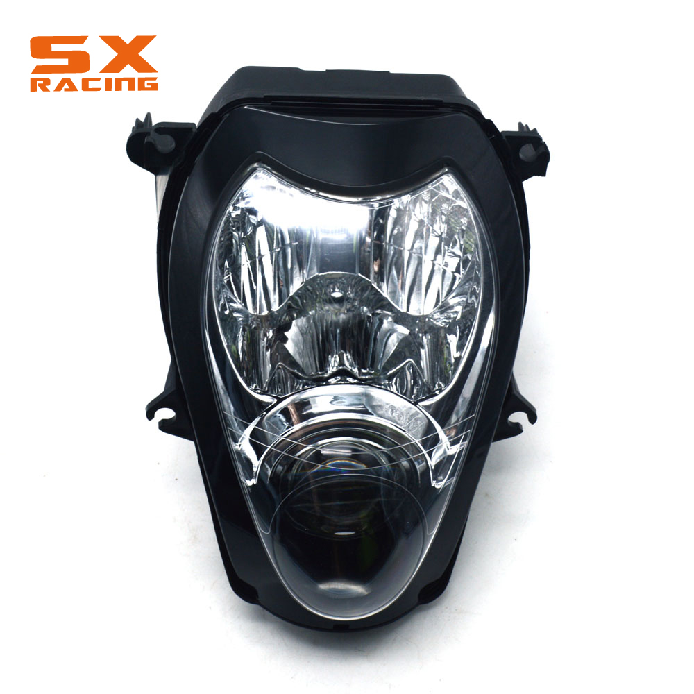 Motorcycle Plastic Headlight Headlamp Frontlight For HAYABUSA 1300 1999-2007 1999 2000 2001 2002 2003 2004 2005 2006 2007 new motorcycle radiator cooler aluminum motorbike radiator for honda cb400 v tec 99 2000 2001 2002 2003 2004 2005 2006 2007 2008