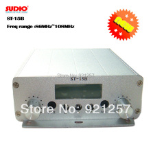 15 Вт FM вещательный передатчик SUDIO ST-15B стерео PLL fm радио вещательная станция с 87 МГц-108 МГц-100 кГц двойной режим оптовые продажи