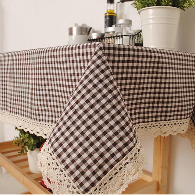 Biancheria da caffè tovaglie rettangolare tovaglia sul tavolo tavolo ...