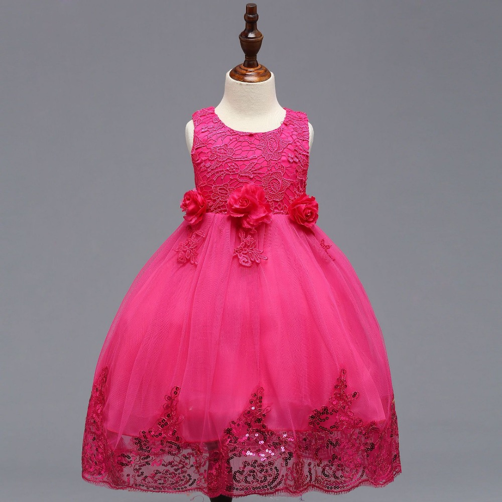 Communion   Dress   Sequined Ball Gowns   Flower     Girl     Dresses   Custom Made Little   Girls   Pageant   Dresses