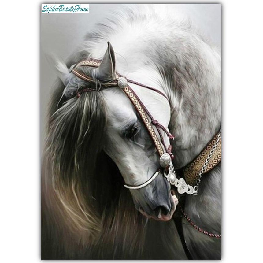 Sophie beauty home 5D DIY diamond painting horse head cross stitch mosaic home wall decoration craft gift pictures