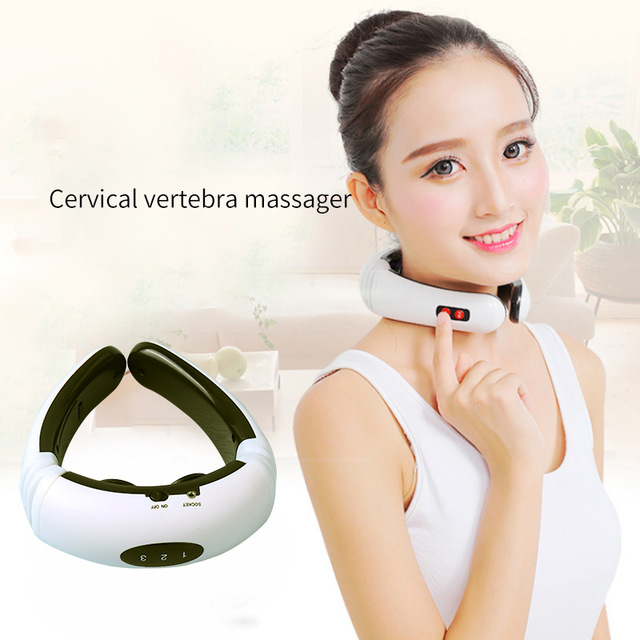 Electric Pulse Back and Neck Massager Far Infrared Heating Pain Relief Tool Health Care Relaxation Multifunctional Physiotherap(China)