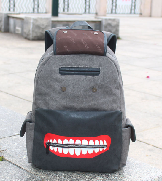 2017 New Cartoon Tokyo Ghoul Canvas Backpack School Bags Travel Durable Teenager Computer Daily Backpack
