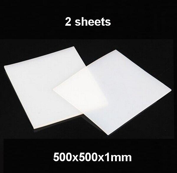 2 sheets, 500X500X1mm, High Quality Silicone Rubber Sheet, For heat Resist Cushion,100% Virgin Silikon Rubber Pad сковорода winner wr 8145 28 см алюминий