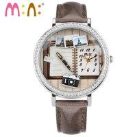 M: n:手作りポリマークレイミニ腕時計レディース女