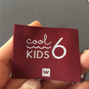 Пользовательские 3,8*4,8 см высокая плотность конец складки одежды этикетки тканые этикетки