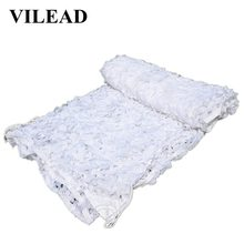 VILEAD 2M x 4M (6.5FT 13FT) Snow White Digital Camouflage Net Military Army Tent Netting Sun Shelter for Hunting Camping