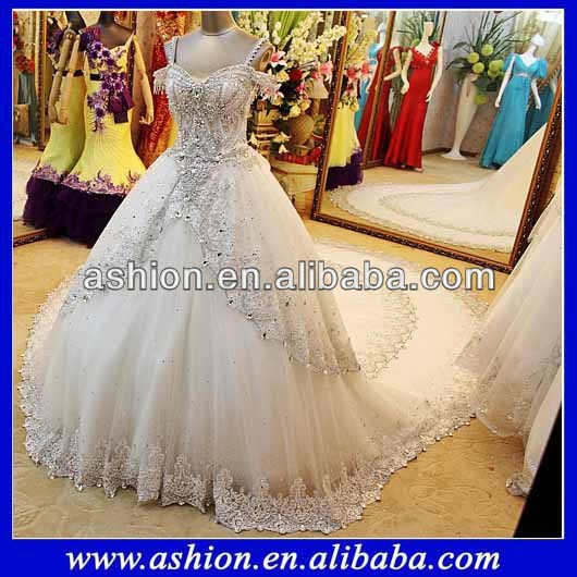 Cheap We 1865 New Arrival Heavy Beaded Lace Appliqued Ball Gown