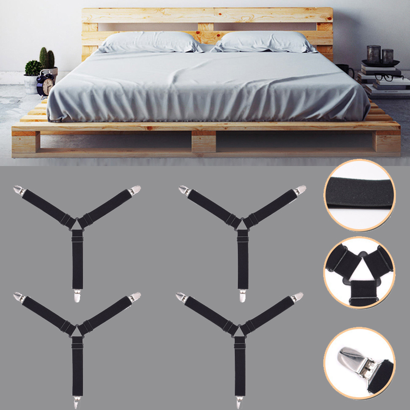1Pc Holder Strap Cloth One Size Strap Slip-On Sheets Securing Clip Elastic Band Strap Clips  Furniture Holder Mattress Clip