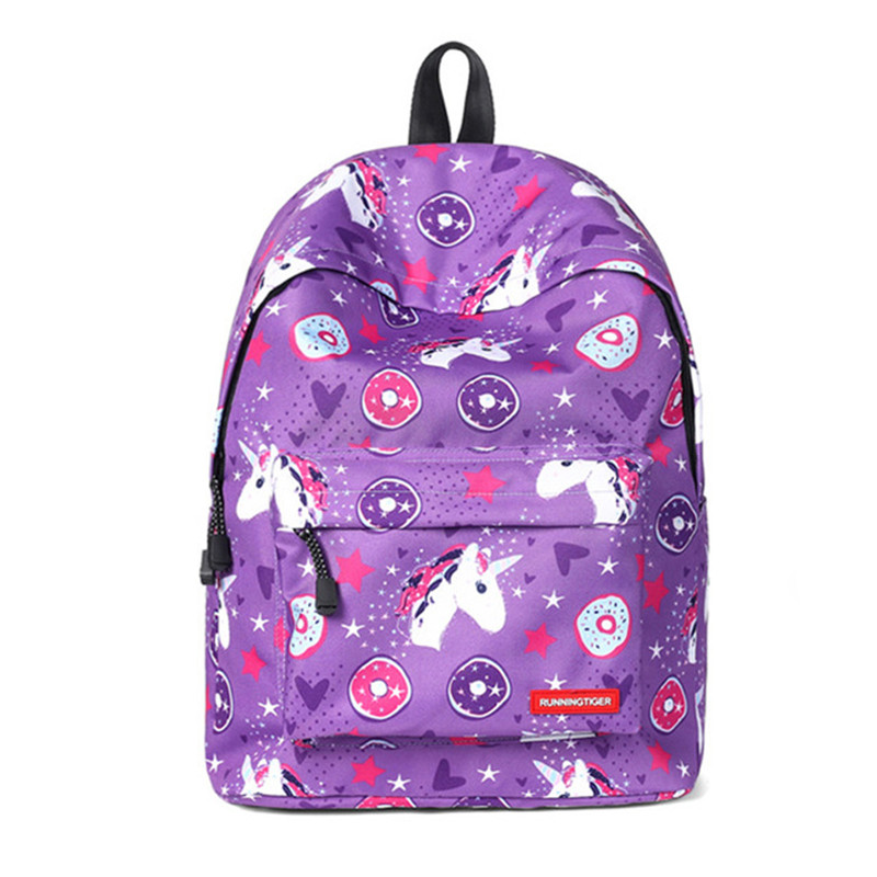 2018 Unicorn Backpack 3D Preppy Printing BackPack Travel Softback Notebook Bag Mochila School Backpack For Girls Bagpack
