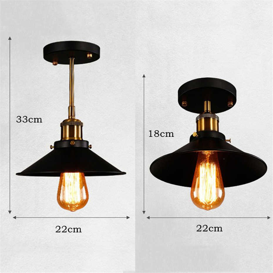 Lamparas De Techo Retro Vintage Led Ceiling Lights Iron Black Ceiling Lamp Retro Cage Light Kitchen Fixtures Luminaria Lamparas De Techo Home Lighting