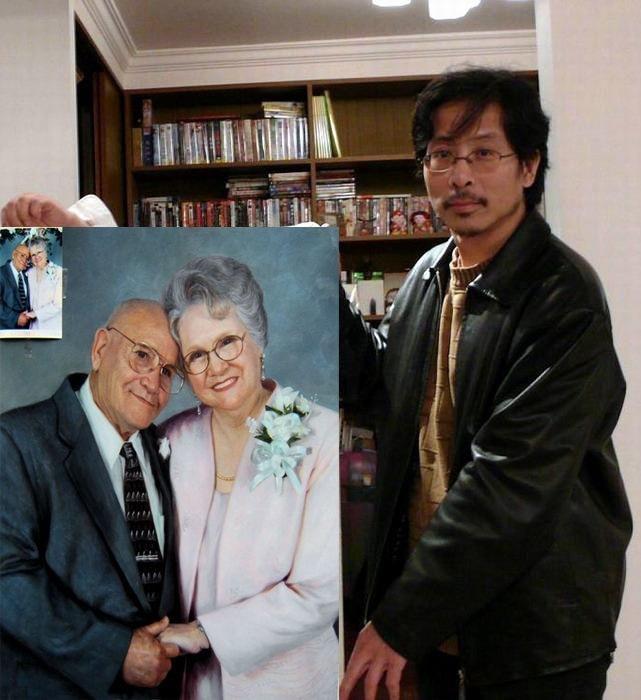 retrato da foto do pai da mãe