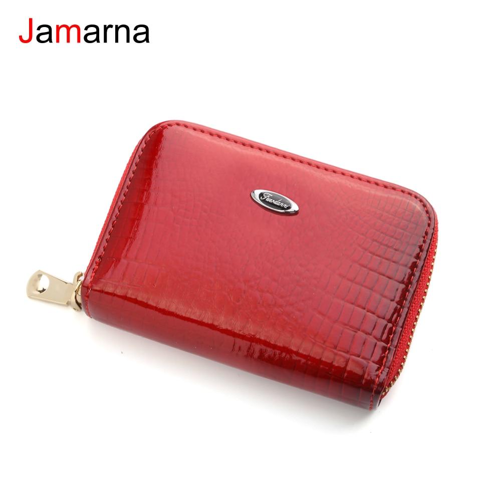 Jamarna Card Holder Leather Organ Pattern Bank Card Holder