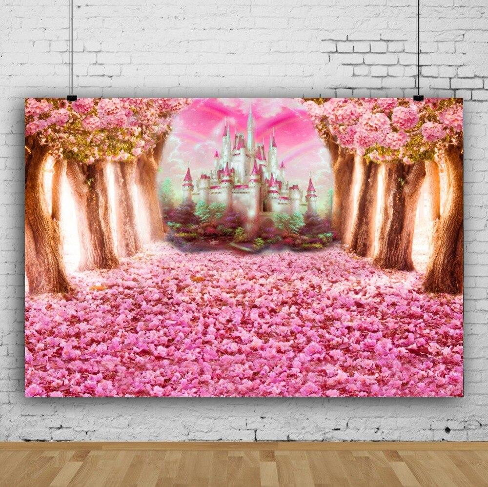 Laeacco Pohádka Lesní strom Květiny Hrad Rainbow Fotografie - Videokamery a fotoaparáty - Fotografie 2