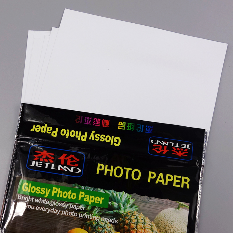 Jetland Glossy Photo Paper A4 Premium  Luminous Inkjet Paper 115g 180g 230g RC260g  For Color Ink Printer