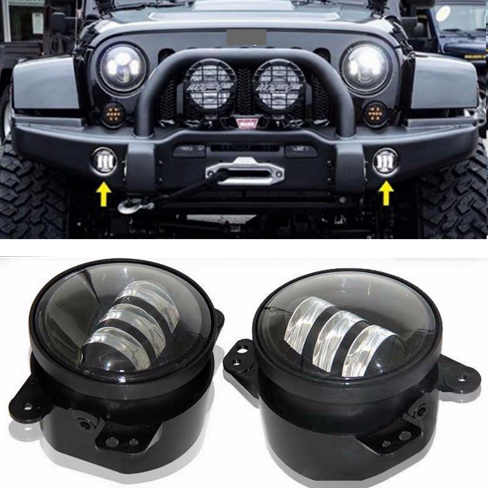 Pair Led Fog Light Kit 30w 4 Inch For 0714 Jeep Wrangler Jk Rubicon Kits Sahara In Car Assembly From Automobiles Motorcycles On Alibaba