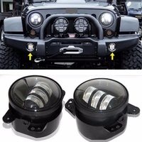 Pair LED Fog Light Kit 30W 4 Inch For 07 14 Jeep Wrangler JK Rubicon Sahara