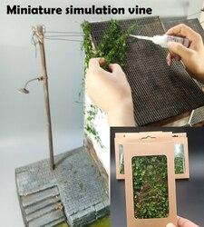 Modelo em miniatura videira cenário modelo simulado montanha tigre vegetação diy miniatura cena modificação materiais