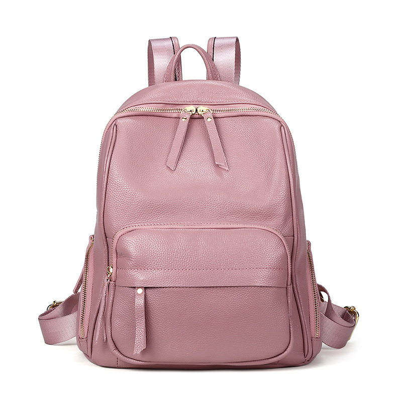 Real Natural Leather Women Backpacks New Fashion Luxury Brand 100% Genuine Leather Female Ladies Girl Student Casual BackpackReal Natural Leather Women Backpacks New Fashion Luxury Brand 100% Genuine Leather Female Ladies Girl Student Casual Backpack