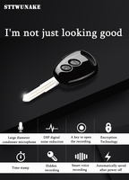 STTWUNAKE Mini Key Hidden Voice Recorder Professional Digital 8GB HD Noise Reduction Time Stamp Spy Voice