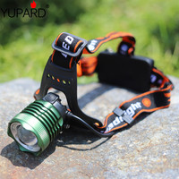 YUPARD Q5 LED HeadLight zoomable Headlamps white blue LED camping fishing power zoom Head Light use 18650 rechargeable battery