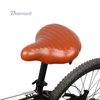 Deemount Bicycle Saddle Excel in Shock Reduction Sturdy Built Extra Thick Extra wide PU Silicone Foam Seat Comfy Durable Use