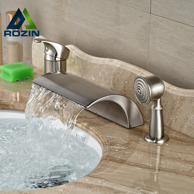 bathroom sink price luxury waterfall spout 3pcs bathroom bathtub mixer faucet 11388