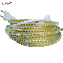220V Led Strip SMD 2835 120Led/M White/Warm White  Waterproof IP67 Tape Light With EU Power Plug 1M 2M 3M 4M 5M 10M 15M 20M