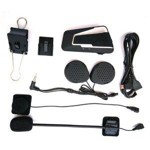 Image 5 - Fones de ouvido sem fios para motocicleta, mais novos intercomunicadores com bluetooth, 1200m bt, à prova d água, rádio fm, para 2 pilotos