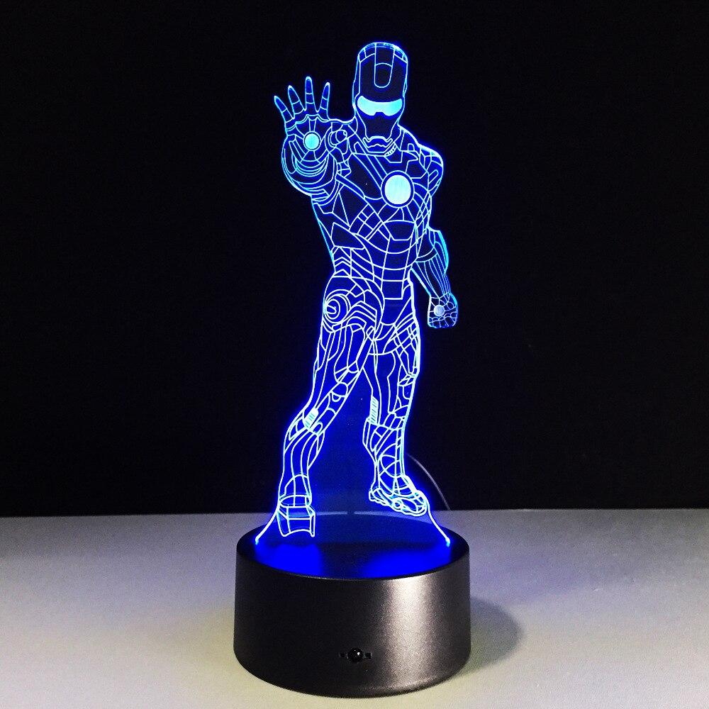 7 цветов творческий 3D лампа ночник ребенок LED акрил удаленного коммутатора лампы USB тропинке спальня гостиная свет настольная лампа