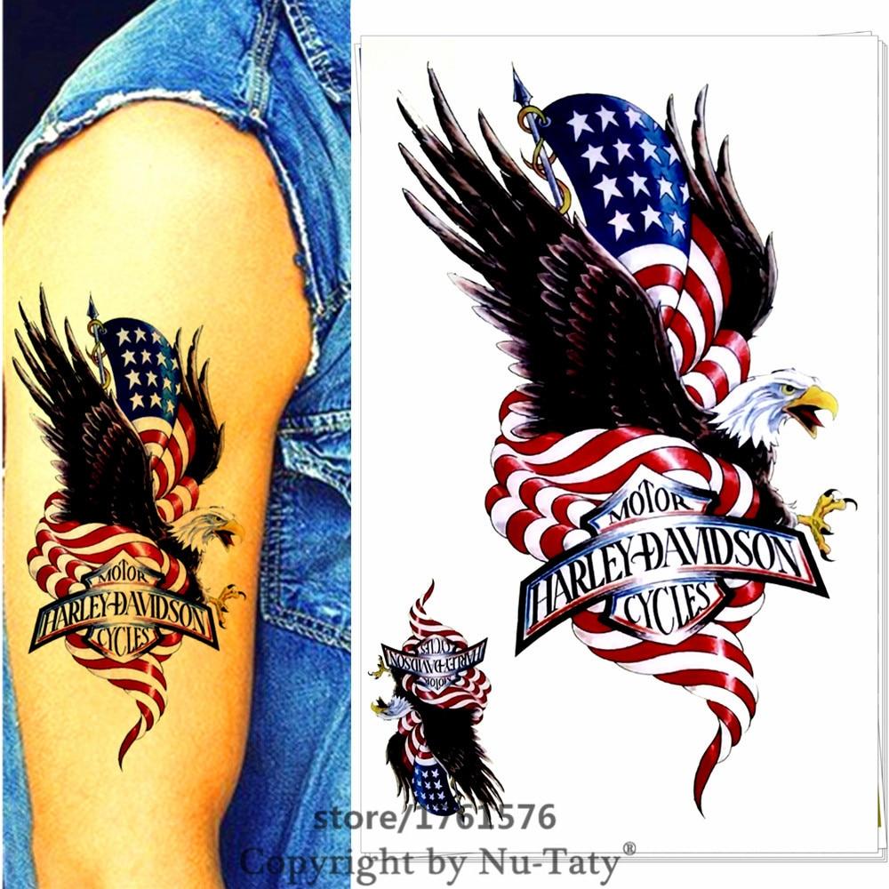 American eagle tattoos high quality photos and flash - M Theory American Eagle Body Makeup Temporary 3d Tattoos Sticker Henna Flash Tatoos Tatuagem Body