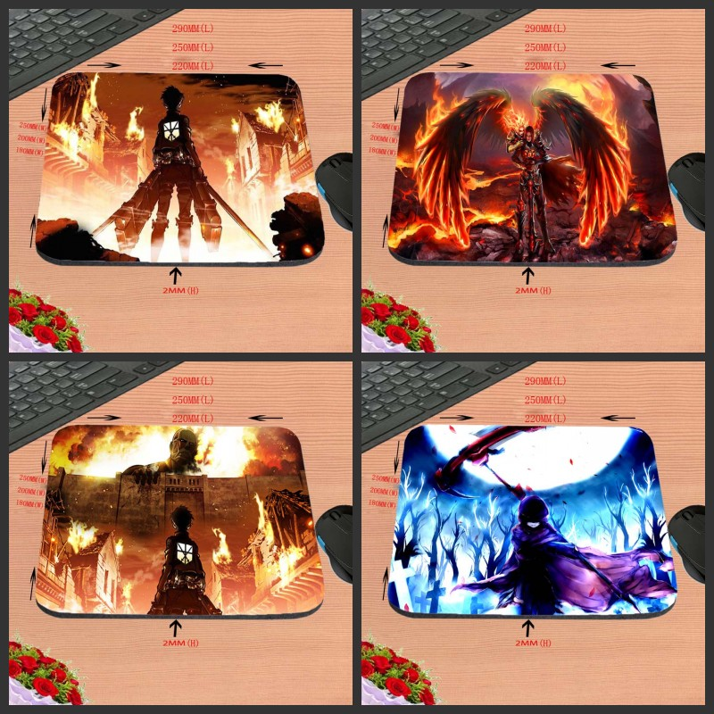 2017 Hot Sell Attack the giant Print Anti-slip New Arrival Customized Rectangular Mouse Pad Computer PC Nice Gaming As Gift