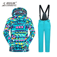 High Experience Breathable Boys Girl Jacket and Pants For Winter Ski Suit Children Snowboard Skiing Clothing Kids Ski Suit