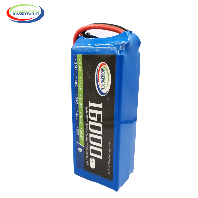 <font><b>4S</b></font> 14.8V <font><b>16000mAh</b></font> 25C RC Aircraft <font><b>LiPo</b></font> Battery For RC Airplane Drone Quadrotor Car Boat <font><b>4S</b></font> Batteries <font><b>LiPo</b></font> AKKU Free Shipping image