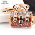 2016 Lovely Lady Women Handbag Keychain Golden Bag Pattern Fashion Charming Purse KeyRing Pendant Jewel Gift