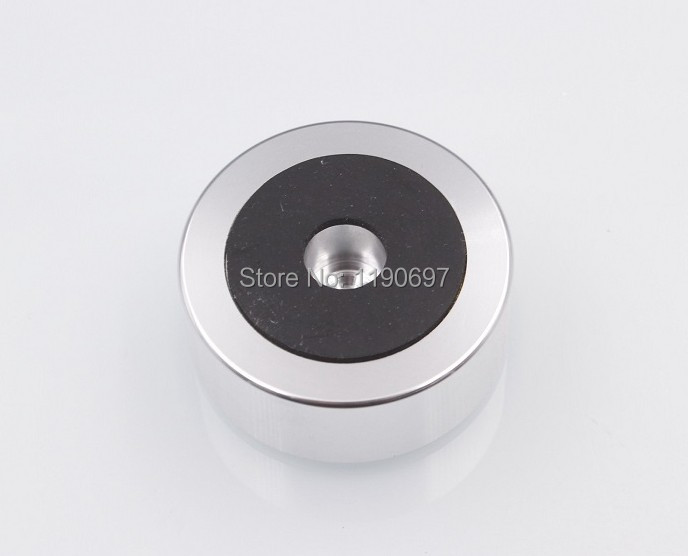 1PC Rubber Ring Shock Absorber Top Aluminum Machine Foot Amplifier Feet Speaker Turntable Feet 49*20MM 1PC Free Shipping