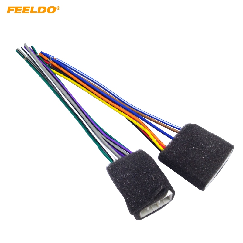 Feeldo 1pair Car Cd Player Radio Audio Stereo Wiring
