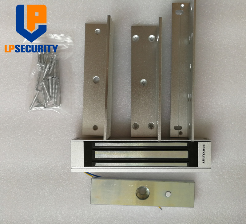 180KG Single Door Electrical Magnetic Lock With 180 ZL Bracket Magnetic Lock