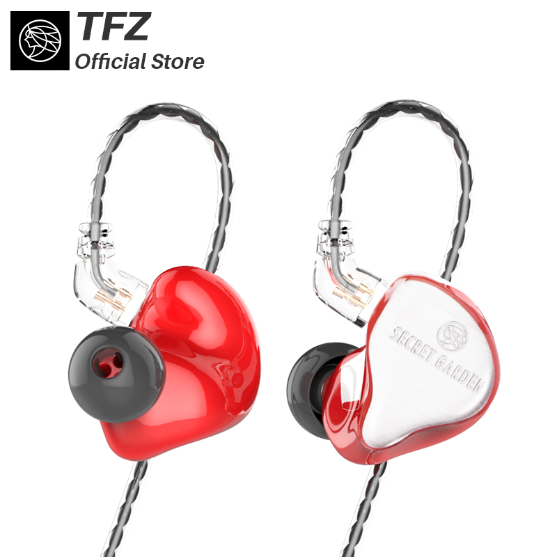 The Fragant Zither/2018 SECRET GARDEN HIFI Neckband earphones, TFZ In-ear Headset Heavy Bass Quality Music Earphones elephone e1 in ear hifi music earphones gold