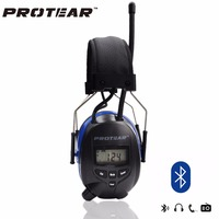 NRR 25dB Bluetooth Electronic Hearing Protector For Hunting Digital AM FM Radio Electronic Ear Protection With