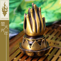 China ancient fine carving Buddha incense hand Incense burner