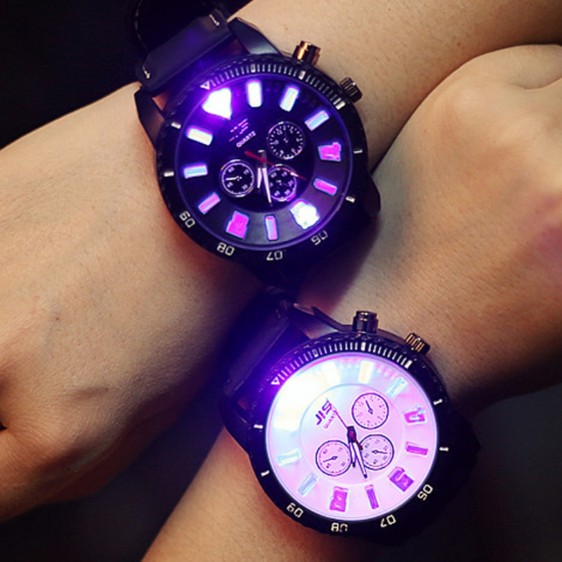 High Quality Lover Watches LED Backlight Rubber Sport