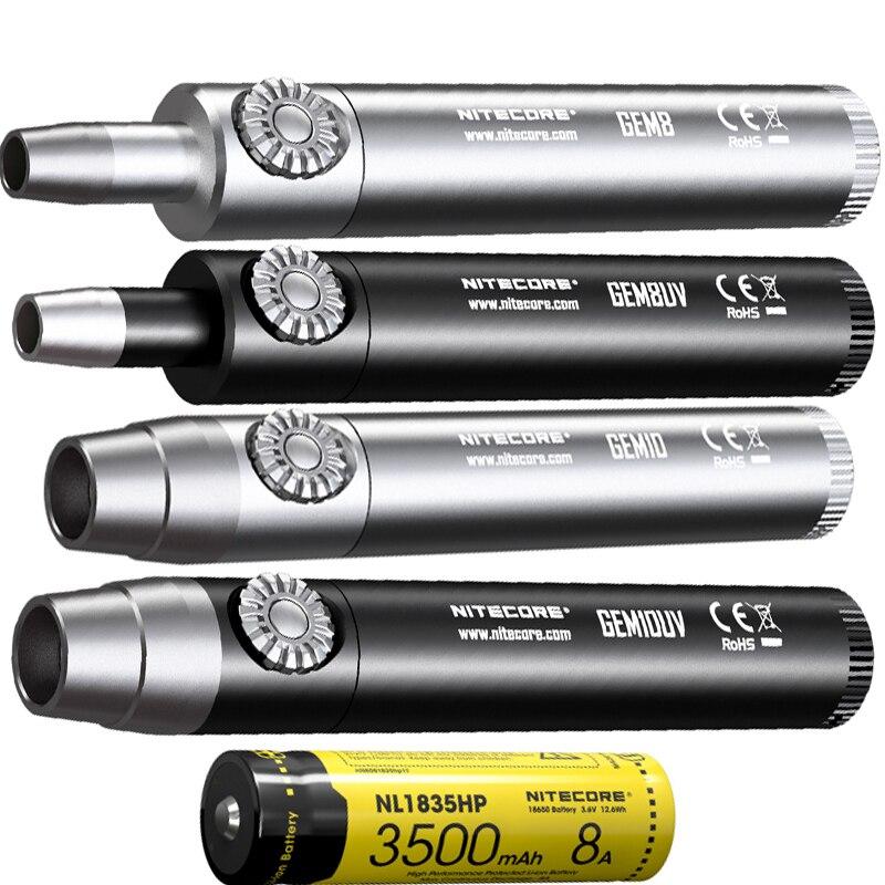 Audacious Nitecore Gem8 Gem8uv Gem10 Gem10uv Jeweler Light 800lm Cree Xp-l Hi V3 Led Flashlight Torch With 18650 Battery