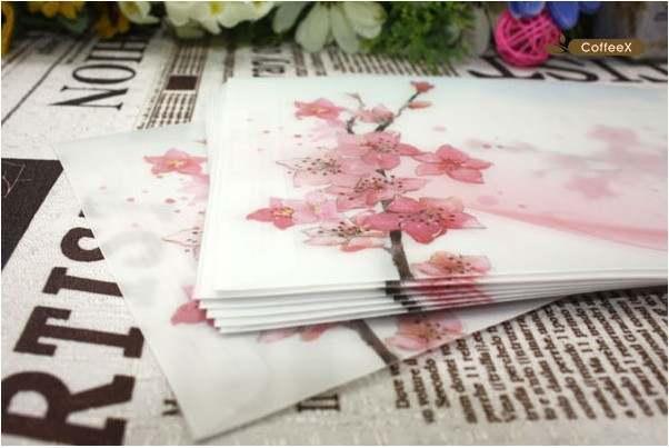 Online Shop Envelopes Beautiful Peach Blossom Sulfuric Acid Paper