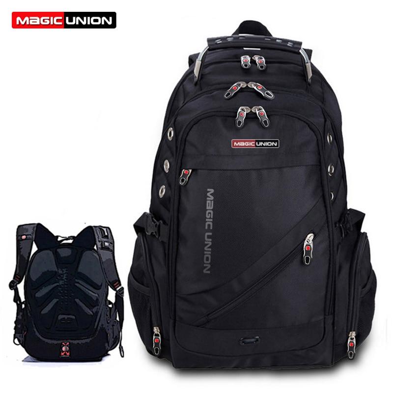 Magic union erkek seyahat çantası adam sırt çantası polyester çanta su geçirmez omuz çantaları bilgisayar packsack marka tasarım sırt çantaları