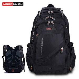 Image 1 - MAGIC UNION Mens Travel Bag Man Backpack Polyester Bags Waterproof Shoulder Bags Computer Packsack Brand Design Backpacks