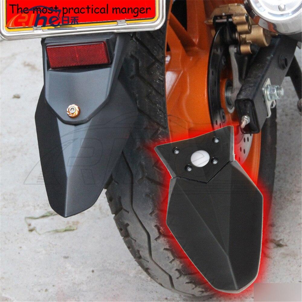 2015 latest style motorcycle plastic mudguard fender black color motorbike rear fender For SUZUKI EN YBR GW250 universal diy plastic motorcycle mudguard black