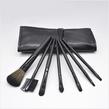Mei Nai Qi 7-Piece Makeup Brush Set Portable Makeup Makeup Brush Set Leather Suit Wallet Beauty Kit недорого